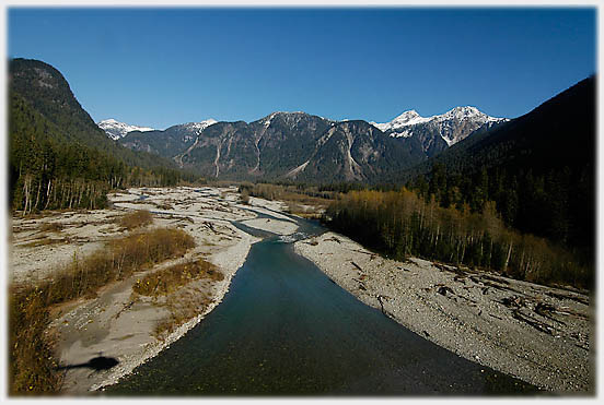 The upper section of the Pitt River