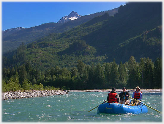 Rafting under Remote Peak